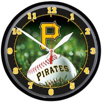 Pittsburgh Pirates Round Wall Clock 12.75""