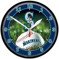 Seattle Mariners Round Wall Clock 12.75""