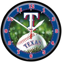 Texas Rangers Round Wall Clock 12.75""
