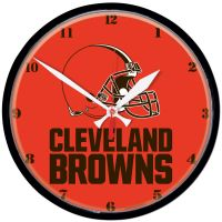 "Cleveland Browns Helmet Round Wall Clock 12.75"""