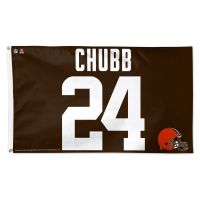 Cleveland Browns Flag - Deluxe 3' X 5' Nick Chubb