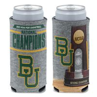 NCAA Div I Basketball Champ Baylor Bears Mens Final Four Champ Baylor 12 oz Slim Can Cooler