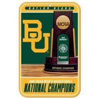 """NCAA Div I Basketball Champ Baylor Bears Mens Final Four Champion Bayl Plastic Sign 11"""" x 17"""""""