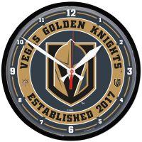 "Vegas Golden Knights Round Wall Clock 12.75"""