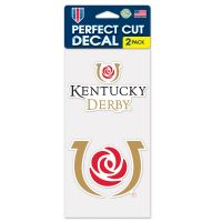 "Kentucky Derby Perfect Cut Decal Set of Two 4""x4"""
