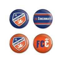 """FC Cincinnati Button 4 Pack 1 1/4"""" Rnd"""