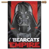 "Cincinnati Bearcats / Star Wars star wars vader Vertical Flag 28"" x 40"""