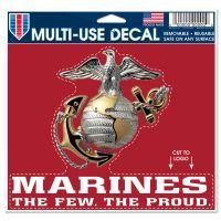 "U.S. Marines Multi-Use Decal - cut to logo 5"" x 6"""