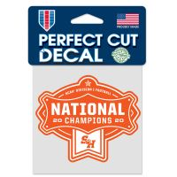 """FCS DIV 1 FOOTBALL CHAMPION Perfect Cut Color Decal 4"""" x 4"""""""