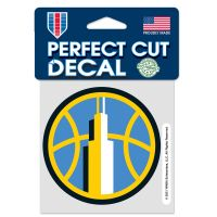 """Chicago Sky Perfect Cut Color Decal 4"""" x 4"""""""
