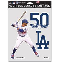 """Los Angeles Dodgers Multi Use - 3 Fan Pack 5.5"""" x 7.75"""" Mookie Betts"""