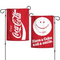 """Coca-Cola Garden Flags 2 sided 12.5"""" x 18"""""""