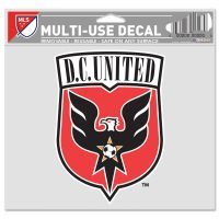 """D.C. United Multi-Use Decal -Clear Bckrgd 5"""" x 6"""""""