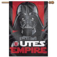 "Utah Utes / Star Wars VADER Vertical Flag 28"" x 40"""