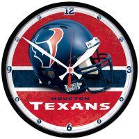 "Houston Texans Round Wall Clock 12.75"""