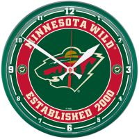 "Minnesota Wild Round Wall Clock 12.75"""