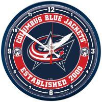 "Columbus Blue Jackets Round Wall Clock 12.75"""