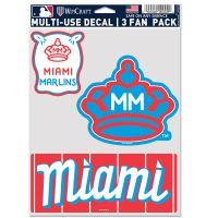 "Miami Marlins City Multi Use - 3 Fan Pack 5.5"" x 7.75"""
