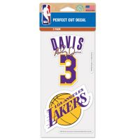 "Los Angeles Lakers Perfect Cut Decal Set of two 4""x4"" Anthony Davis"
