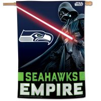 "Seattle Seahawks / Star Wars Darth Vader Vertical Flag 28"" x 40"""