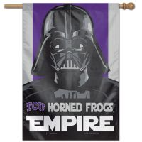 "TCU Horned Frogs / Star Wars VADER Vertical Flag 28"" x 40"""