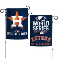 """American League Champions Houston Astros World Series Garden Flags 2 sided 12.5"""" x 18"""""""