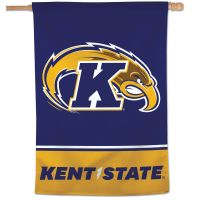"""Kent State Golden Flashes Vertical Flag 28"""" x 40"""""""