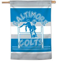 "Indianapolis Colts / Classic Logo Retro Vertical Flag 28"" x 40"""