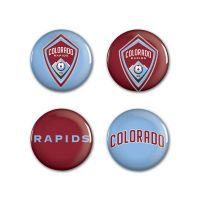 "Colorado Rapids Button 4 Pack 1 1/4"" Rnd"