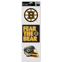 """Boston Bruins Fan Decals 3.75"""" x 12"""""""