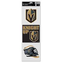 """Vegas Golden Knights Fan Decals 3.75"""" x 12"""""""
