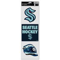 """Seattle Kraken Fan Decals 3.75"""" x 12"""""""