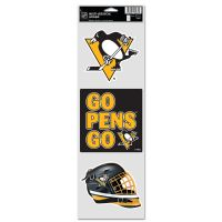 """Pittsburgh Penguins Fan Decals 3.75"""" x 12"""""""