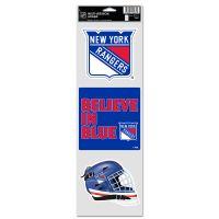 "New York Rangers Fan Decals 3.75"" x 12"""
