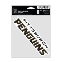 """Pittsburgh Penguins Fan Decals 3.75"""" x 5"""""""