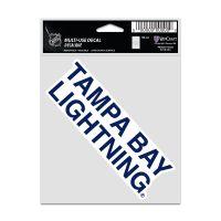 "Tampa Bay Lightning Fan Decals 3.75"" x 5"""