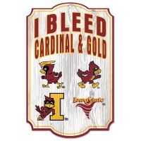 "Iowa State Cyclones / Vintage Collegiate vintage logos Wood Sign 11"" x 17"" 1/4"" thick"