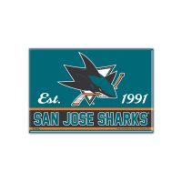 """San Jose Sharks Metal Magnet 2.5"""" x 3.5"""""""