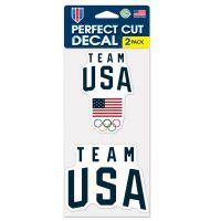 "USOC Team USA Logo Perfect Cut Decal set of two 4""x4"""