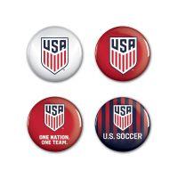 "US Soccer - National Team Button 4 Pack 1 1/4"" Rnd"