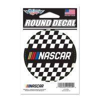 "NASCAR Logo Round Vinyl Decal 3"" x 3"""