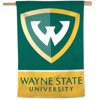 "Wayne State Warriors Vertical Flag 28"" x 40"""