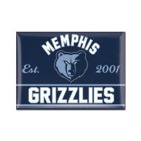 "Memphis Grizzlies Metal Magnet 2.5"" x 3.5"""