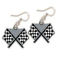 NASCAR Logo Earrings Jewelry Card