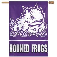 "TCU Horned Frogs Vertical Flag 28"" x 40"""