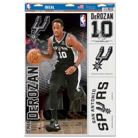 "San Antonio Spurs Multi Use Decal 11"" x 17"" DeMar DeRozan"