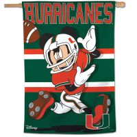 "Miami Hurricanes / Disney Vertical Flag 28"" x 40"""