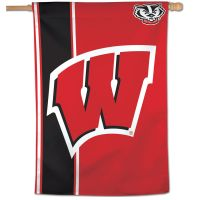 "Wisconsin Badgers Stripe Vertical Flag 28"" x 40"""