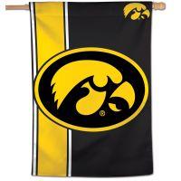 """Iowa Hawkeyes Stripe Vertical Flag 28"""" x 40"""""""
