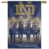 "Notre Dame Fighting Irish Four Horsemen 4 HORSEMEN Vertical Flag 28"" x 40"""